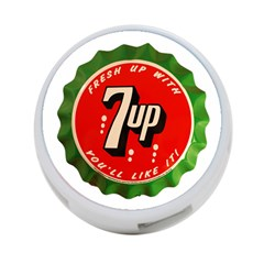 Fresh Up With  7 Up Bottle Cap Tin Metal 4 Port Usb Hub (two Sides)