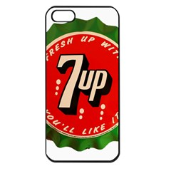 Fresh Up With  7 Up Bottle Cap Tin Metal Apple Iphone 5 Seamless Case (black)