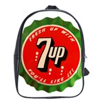 Fresh Up With  7 Up Bottle Cap Tin Metal School Bag (XL) Front