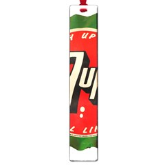 Fresh Up With  7 Up Bottle Cap Tin Metal Large Book Marks