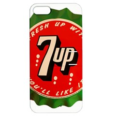 Fresh Up With  7 Up Bottle Cap Tin Metal Apple Iphone 5 Hardshell Case With Stand