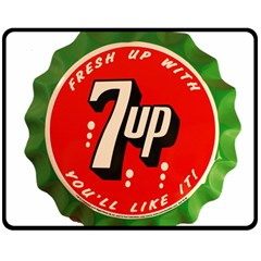 Fresh Up With  7 Up Bottle Cap Tin Metal Double Sided Fleece Blanket (medium)