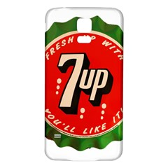 Fresh Up With  7 Up Bottle Cap Tin Metal Samsung Galaxy S5 Back Case (white)