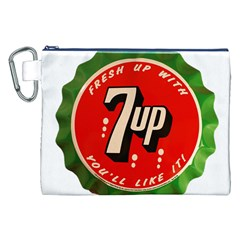 Fresh Up With  7 Up Bottle Cap Tin Metal Canvas Cosmetic Bag (xxl)