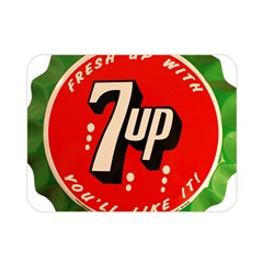 Fresh Up With  7 Up Bottle Cap Tin Metal Double Sided Flano Blanket (mini)