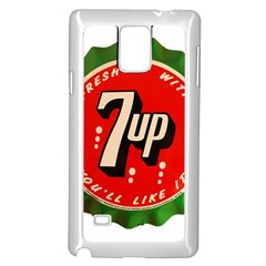 Fresh Up With  7 Up Bottle Cap Tin Metal Samsung Galaxy Note 4 Case (white)