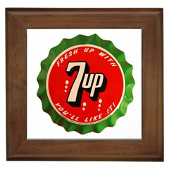 Fresh Up With  7 Up Bottle Cap Tin Metal Framed Tiles