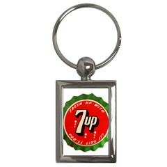 Fresh Up With  7 Up Bottle Cap Tin Metal Key Chains (rectangle)