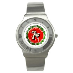 Fresh Up With  7 Up Bottle Cap Tin Metal Stainless Steel Watch