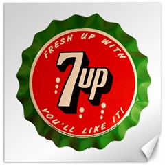 Fresh Up With  7 Up Bottle Cap Tin Metal Canvas 16  X 16