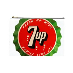 Fresh Up With  7 Up Bottle Cap Tin Metal Cosmetic Bag (large)