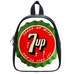 Fresh Up With  7 Up Bottle Cap Tin Metal School Bag (small)