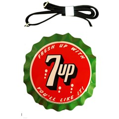 Fresh Up With  7 Up Bottle Cap Tin Metal Shoulder Sling Bags