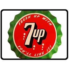 Fresh Up With  7 Up Bottle Cap Tin Metal Fleece Blanket (large)