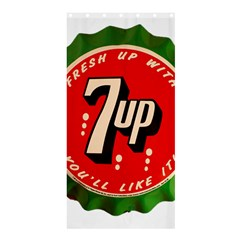 Fresh Up With  7 Up Bottle Cap Tin Metal Shower Curtain 36  X 72  (stall)