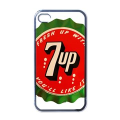 Fresh Up With  7 Up Bottle Cap Tin Metal Apple Iphone 4 Case (black)