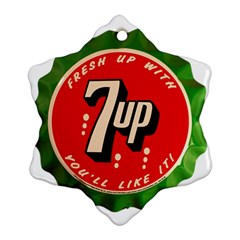 Fresh Up With  7 Up Bottle Cap Tin Metal Ornament (snowflake)