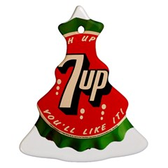 Fresh Up With  7 Up Bottle Cap Tin Metal Christmas Tree Ornament (two Sides)
