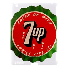 Fresh Up With  7 Up Bottle Cap Tin Metal Apple Ipad 3/4 Hardshell Case (compatible With Smart Cover)