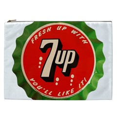 Fresh Up With  7 Up Bottle Cap Tin Metal Cosmetic Bag (xxl)