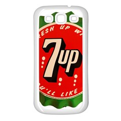 Fresh Up With  7 Up Bottle Cap Tin Metal Samsung Galaxy S3 Back Case (white)