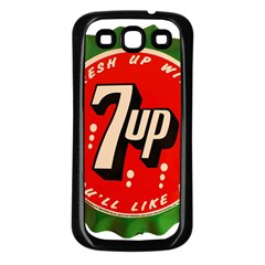 Fresh Up With  7 Up Bottle Cap Tin Metal Samsung Galaxy S3 Back Case (black)