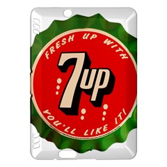 Fresh Up With  7 Up Bottle Cap Tin Metal Kindle Fire Hdx Hardshell Case