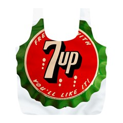 Fresh Up With  7 Up Bottle Cap Tin Metal Full Print Recycle Bags (l)