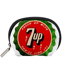 Fresh Up With  7 Up Bottle Cap Tin Metal Accessory Pouches (small)