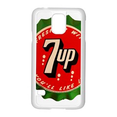 Fresh Up With  7 Up Bottle Cap Tin Metal Samsung Galaxy S5 Case (white)