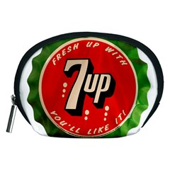 Fresh Up With  7 Up Bottle Cap Tin Metal Accessory Pouches (medium)