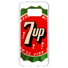 Fresh Up With  7 Up Bottle Cap Tin Metal Samsung Galaxy S8 White Seamless Case