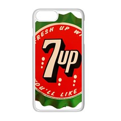 Fresh Up With  7 Up Bottle Cap Tin Metal Apple Iphone 8 Plus Seamless Case (white)