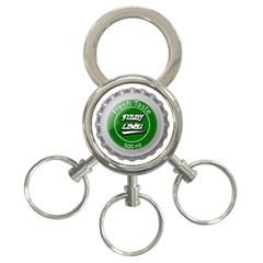 Fresh Taste Fizzy Lime Bottle Cap 3 Ring Key Chains