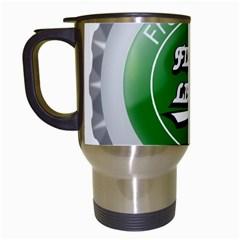 Fresh Taste Fizzy Lime Bottle Cap Travel Mugs (white)