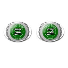 Fresh Taste Fizzy Lime Bottle Cap Cufflinks (oval)