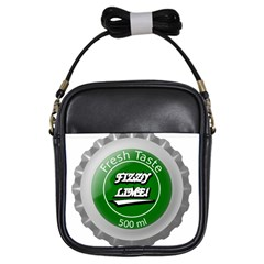 Fresh Taste Fizzy Lime Bottle Cap Girls Sling Bags