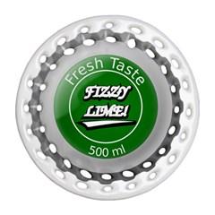 Fresh Taste Fizzy Lime Bottle Cap Ornament (round Filigree)