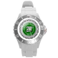 Fresh Taste Fizzy Lime Bottle Cap Round Plastic Sport Watch (l)