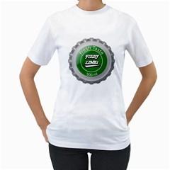 Fresh Taste Fizzy Lime Bottle Cap Women s T Shirt (white)