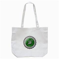 Fresh Taste Fizzy Lime Bottle Cap Tote Bag (white)