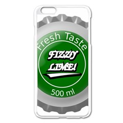 Fresh Taste Fizzy Lime Bottle Cap Apple Iphone 6 Plus/6s Plus Enamel White Case