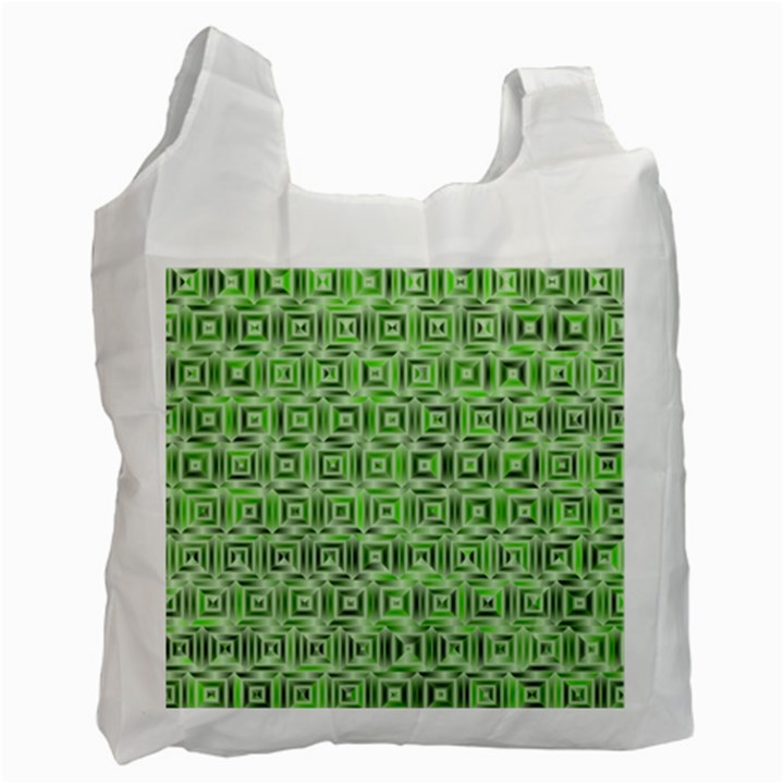 Classic Blocks,green Recycle Bag (Two Side)