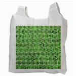 Classic Blocks,green Recycle Bag (Two Side)  Back