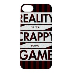 Reality Is Just A Crappy  Boring Game Apple Iphone 5s/ Se Hardshell Case