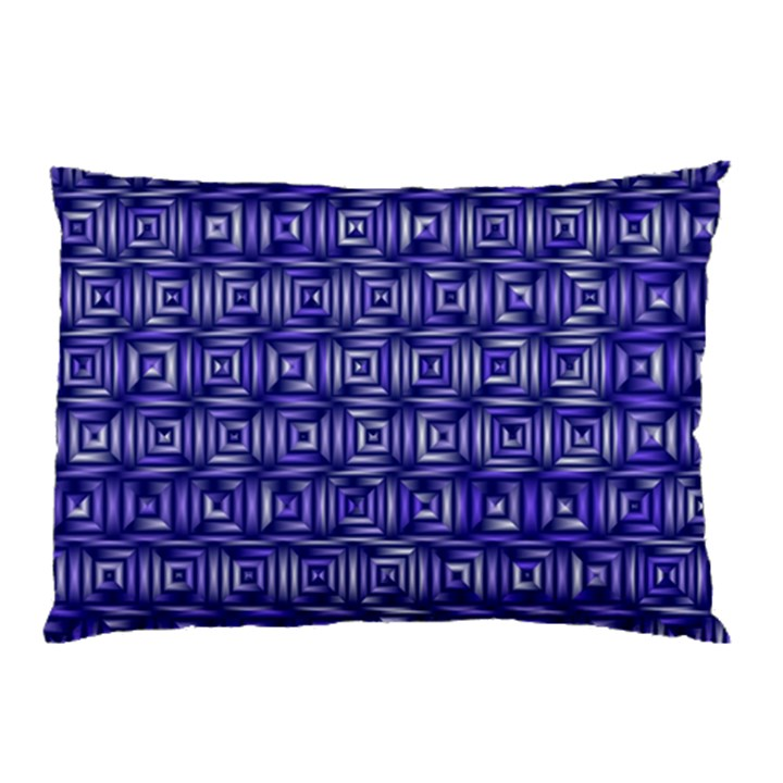 Classic Blocks,blue Pillow Case