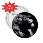 Male Lion Face 2.25  Buttons (10 pack)  Front