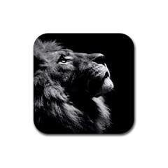 Male Lion Face Rubber Coaster (square)