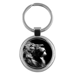 Male Lion Face Key Chains (round)