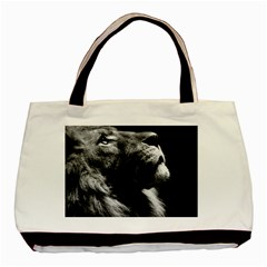Male Lion Face Basic Tote Bag